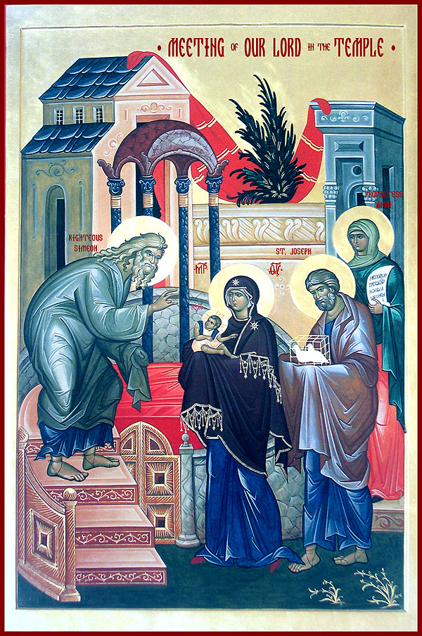 Meeting of our Lord and Saviour, Jesus Christ in the Temple