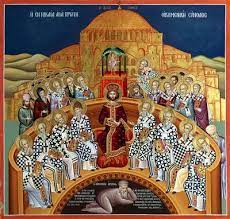 Fathers of the 1st Ecumenical Council-Divine Liturgy served in church